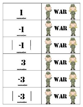 Absolute Value Comparing Integer War CCSS 6NS5