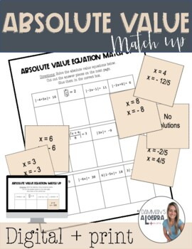 Absolute Value Equation Match Up