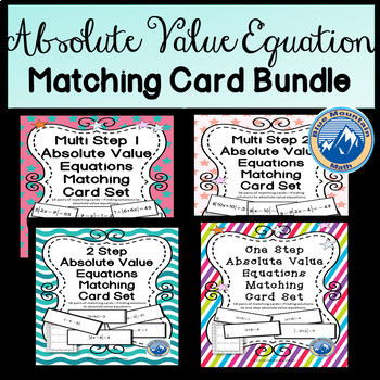 Absolute Value Equation Matching Card Bundle