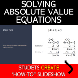 Absolute Value Equations Project