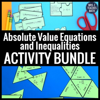 Absolute Value Equations Activity Bundle