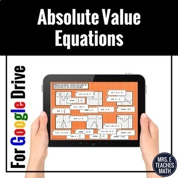 Absolute Value Equations Card Sort Digital Activity