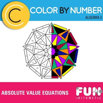 Absolute Value Equations Color by Number