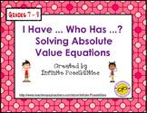 Absolute Value Equations Cooperative Game