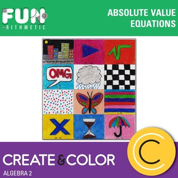 Absolute Value Equations Create and Color