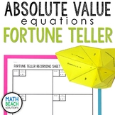Absolute Value Equations Fortune Teller Activity