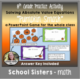 Absolute Value Equations Halloween Themed Activity