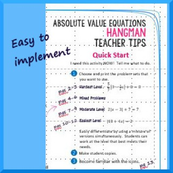 Absolute Value Equations Hangman
