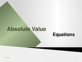 Absolute Value Equations Lesson