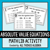 Absolute Value Equations Math Lib