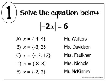 Absolute Value Equations Math Lib
