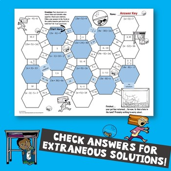 Absolute Value Equations Maze Zombie Theme