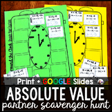 Absolute Value Equations Partner Scavenger Hunt Activity