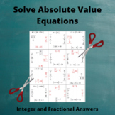 Absolute Value Equations Puzzle 1