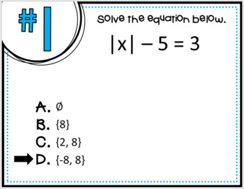 Absolute Value Equations (Quick Check)