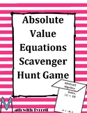 Absolute Value Equations Scavenger Hunt Game