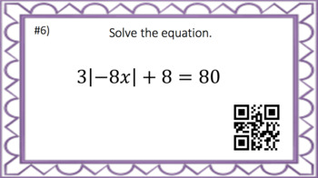 Absolute Value Equations - Task Cards & Interactive Video Lesson!