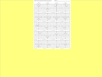 Absolute Value Equations Worksheet #2