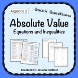 Absolute Value Equations and Inequalities Activity: Fix Common Mistakes!