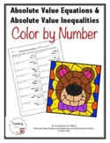 Absolute Value Equations and Inequalities Color by Number Activity