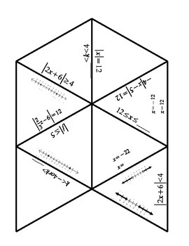Absolute Value Equations and Inequalities Tarsia Puzzle