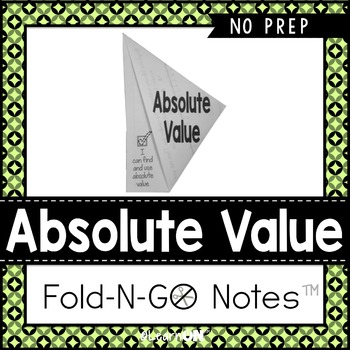 Absolute Value Fold-N-Go Notes™