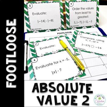 Absolute Value Footloose 2 - Task Card Activity