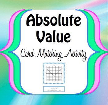 Absolute Value Function Graph Transformation - Card Matching Game - Activity