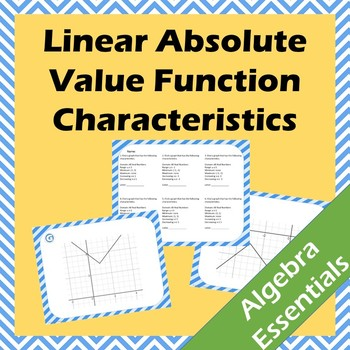 Absolute Value Function Graphs Characteristics Scavenger Hunt
