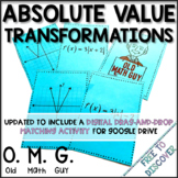 Absolute Value Functions Card Game