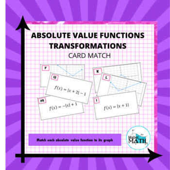 Absolute Value Functions Card Match
