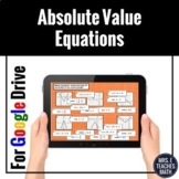 Absolute Value Functions Digital Card Sort for Distance Learning
