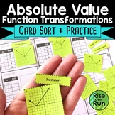 Absolute Value Functions Graphing Card Sort Activity