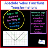 Independent Work Packet: Absolute Value Functions: Transformations
