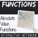 Absolute Value Functions Interactive Notebook for Algebra 2