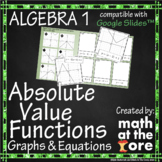 Absolute Value Functions - Matching - Graphs & Equations for Google Slides™