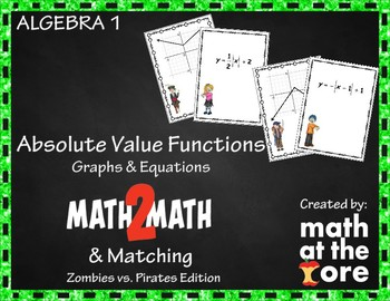 Absolute Value Functions - Matching Graphs & Equations - MATH2MATH