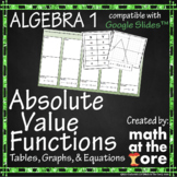 Absolute Value Functions - Tables, Graphs, & Equations for Google Slides™