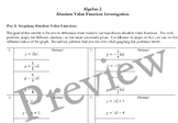 Absolute Value Functions Transformations Investigation