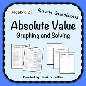 Absolute Value Functions Activity: Fix Common Mistakes!