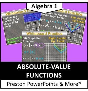 (Alg 1) Absolute Value Functions in a PowerPoint Presentation