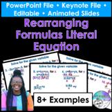 Rearranging Formulas Literal Equation PowerPoint/Keynote P