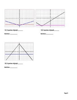 Absolute Value Graph and Equation Matching
