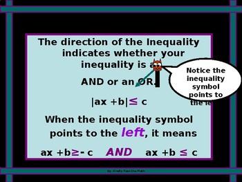 Algebra Power-Point:  Absolute-Value Inequalities