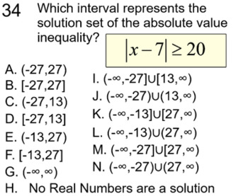 Absolute Value Inequalities 3 Lessons, 5 Assignments  for SMART Notebook