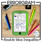 Absolute Value Inequalities Activity   Error Analysis