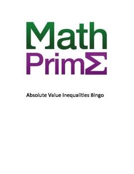 Absolute Value Inequalities Bingo