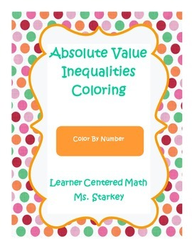 Absolute Value Inequalities Color By Number