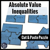 Absolute Value Inequalities Cut-Out Puzzle