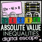Absolute Value Inequalities Digital Math Escape Room